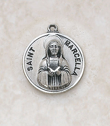St. Marcella Sterling Silver Medal