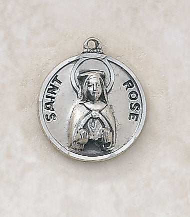 St. Rose Sterling Silver Medal