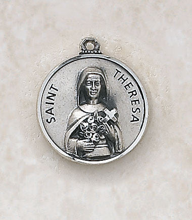 St. Theresa Sterling Silver Medal