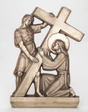 "28"" Bronze Stations of the Cross Set - Discount Catholic Store"