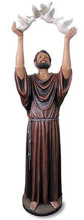 St. Francis with Birds 48 Inch Statue - Discount Catholic Store