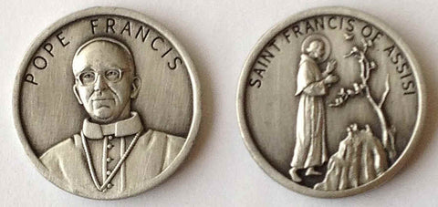 Pope Francis PEWTER Pocket Coin