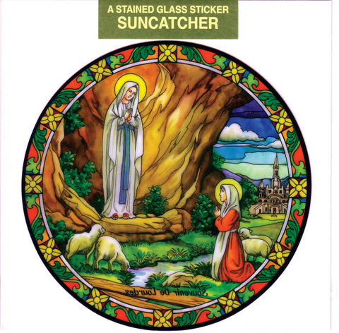 Our Lady of Lourdes Suncatcher