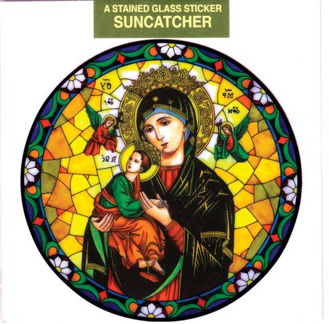 Our Lady of Perpetual Help Suncatcher