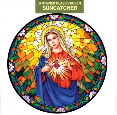 Immaculate Heart of Mary Suncatcher