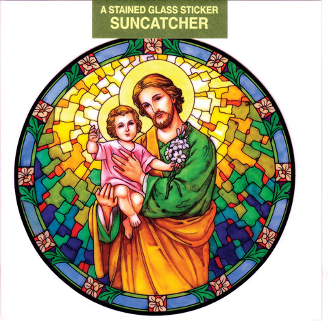 St. Joseph and Child Suncatcher