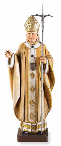 "9"" St. John Paul II Statue - Discount Catholic Store"
