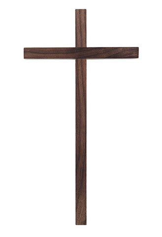 "Narrow Walnut Cross in 10"" or 12"" - Discount Catholic Store"