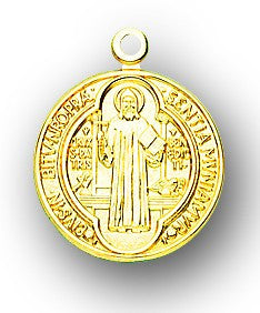 St. Benedict 14kt Gold Medal - Discount Catholic Store