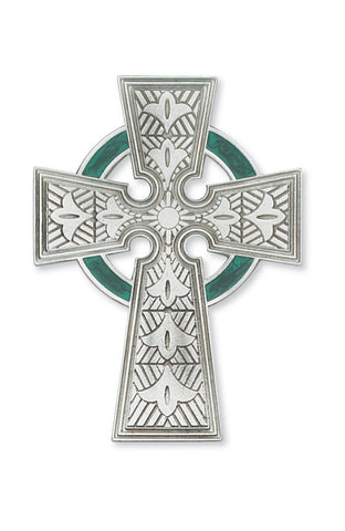 "4.75"" Pewter Celtic Cross - Discount Catholic Store"