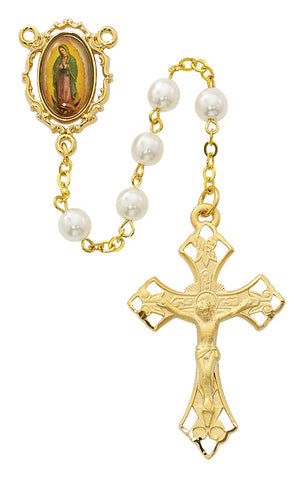 Gold Plated Guadalupe Rosary - Discount Catholic Store