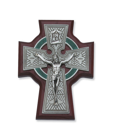 "5.25"" Cherry Celtic Crucifix - Discount Catholic Store"