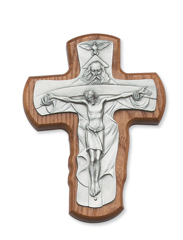 "5.5"" Walnut Crucifix with Trinity - Discount Catholic Store"