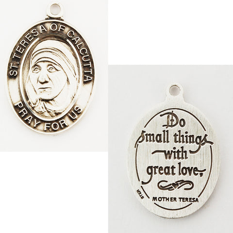 St. Mother Teresa Sterling Silver Medal