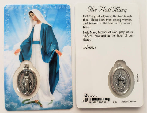 Our Lady of Grace Prayer Card
