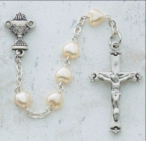 First Communion Rosary Available in Black & White - Discount Catholic Store