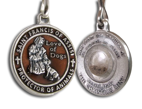St. Francis Dog Medal with Soil