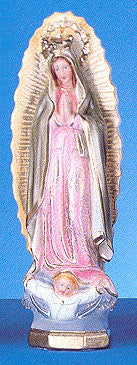 "Our Lady of Guadalupe    12"" Italian Plaster Statue"