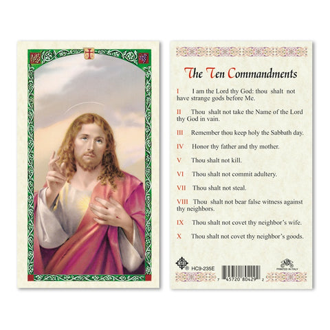10 Commandments Prayer Card Pack
