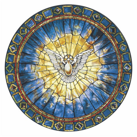 Tiffany Holy Spirit Genuine Stained Glass