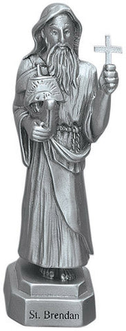 St. Brendan Pewter Statue - Discount Catholic Store