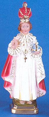 "Infant of Prague 12"" Italian Plaster Statue"