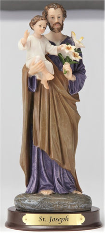"St. Joseph & Child 8"" Resin Statue"