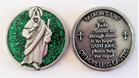 St. Jude Enameled Pocket Coin - Pack of 12