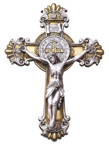 St. Benedict Wall Crucifix 10.25""