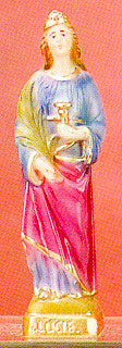 "St. Lucy 12"" Italian Plaster Statue"