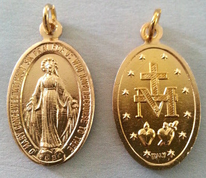 Miraculous Medal - Gold Plated Aluminum - Pack of 25