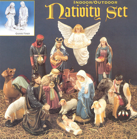 "24"" Outdoor Nativity Set - 15 Piece Full Set - Discount Catholic Store"
