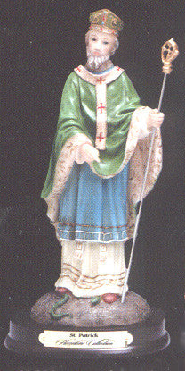 St. Patrick Resin Statue