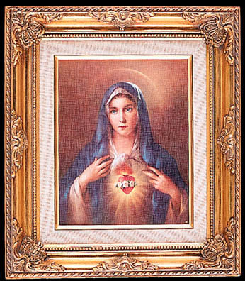 Framed Art - Immaculate Heart of Mary