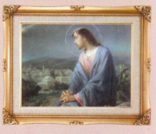 Framed Art - Jesus Overlooking City