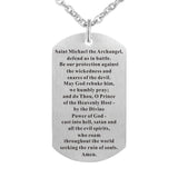 Dog Tag with St. Michael Prayer
