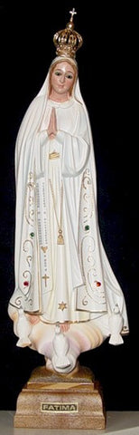 Statue - Our Lady of Fatima with Glass Eyes