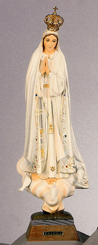 Statue - Our Lady of Fatima with Glass Eyes 19""