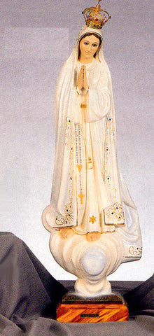 Statue - Our Lady of Fatima with Glass Eyes 28""