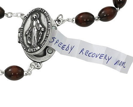 Rosary with Special Intention Compartment (Locket) - Discount Catholic Store
