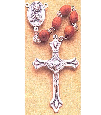 Rose Wood Rosary - Discount Catholic Store