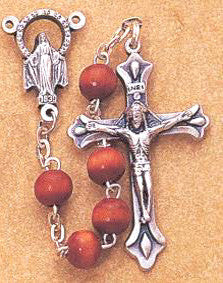 Natural Wood Rosary - Discount Catholic Store