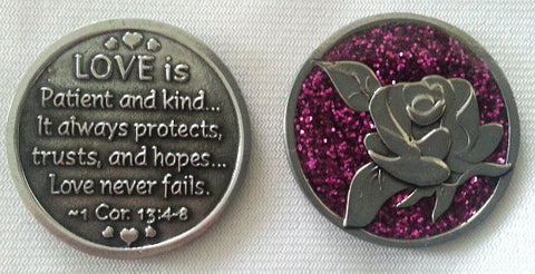 Enameled Love is... (1Cor13:4-8) Pocket Coin