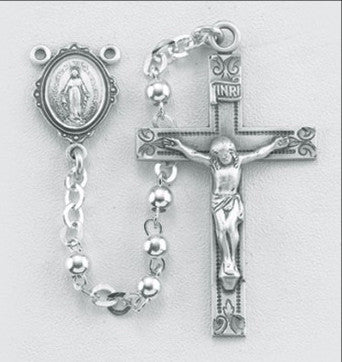 High Polished Sterling Silver Rosary