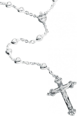 Sterling Silver Sacred Heart Rosary
