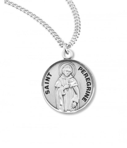 Saint Peregrine Sterling Silver Medal