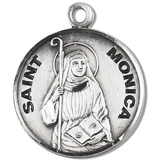 Saint Monica Sterling Silver Medal