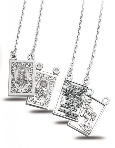Sterling Silver Scapular - Discount Catholic Store