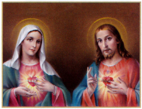 Sacred Hearts of Jesus and Mary Poster