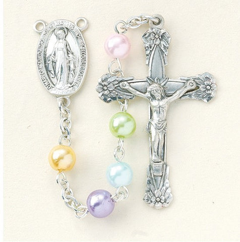 Multi Color Faux Pearl Rosary
